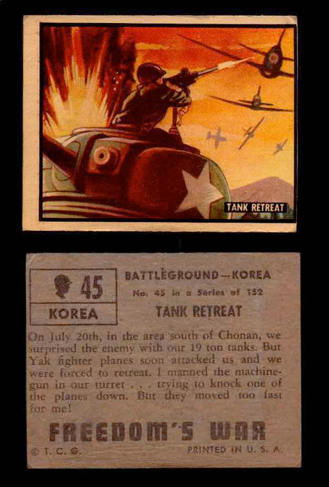 1950 Freedom's War Korea Topps Vintage Trading Cards You Pick Singles #1-100 #45  - TvMovieCards.com