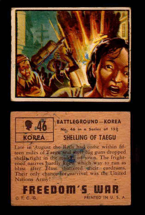 1950 Freedom's War Korea Topps Vintage Trading Cards You Pick Singles #1-100 #46  - TvMovieCards.com