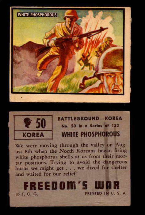 1950 Freedom's War Korea Topps Vintage Trading Cards You Pick Singles #1-100 #50  - TvMovieCards.com