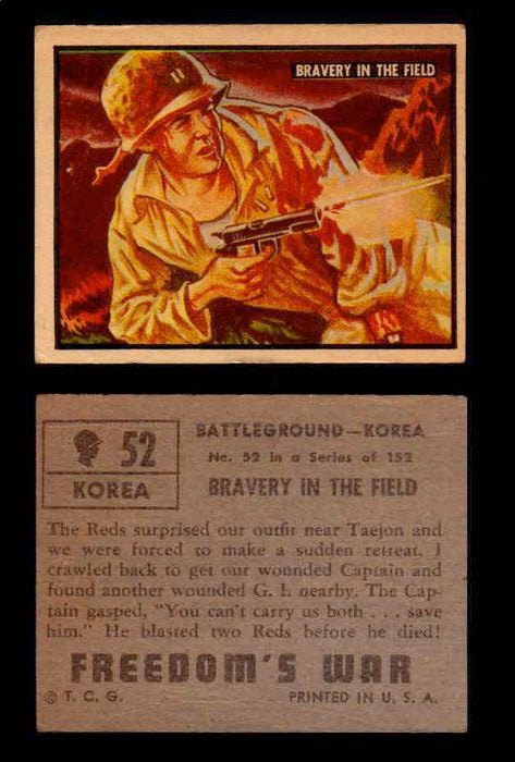 1950 Freedom's War Korea Topps Vintage Trading Cards You Pick Singles #1-100 #52  - TvMovieCards.com