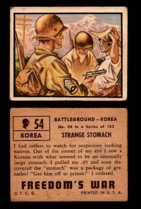 1950 Freedom's War Korea Topps Vintage Trading Cards You Pick Singles #1-100 #54  - TvMovieCards.com