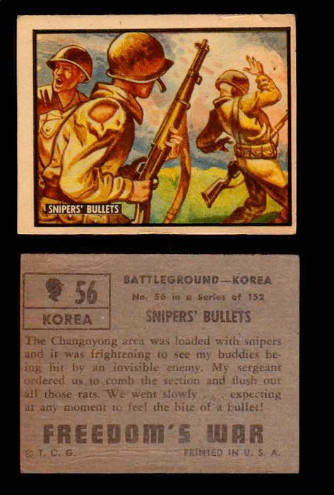 1950 Freedom's War Korea Topps Vintage Trading Cards You Pick Singles #1-100 #56  - TvMovieCards.com