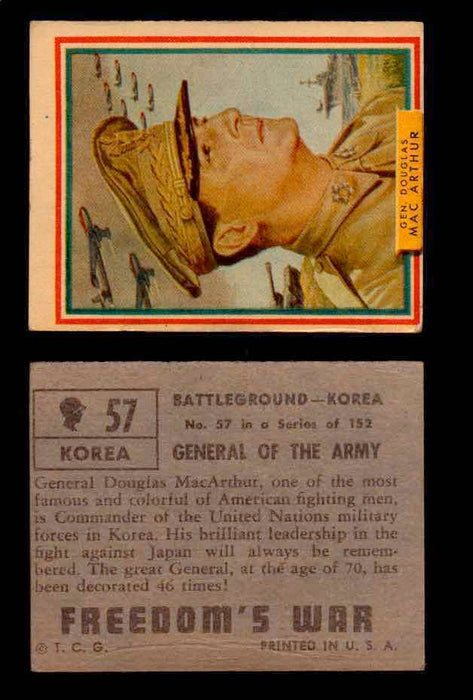 1950 Freedom's War Korea Topps Vintage Trading Cards You Pick Singles #1-100 #57  - TvMovieCards.com
