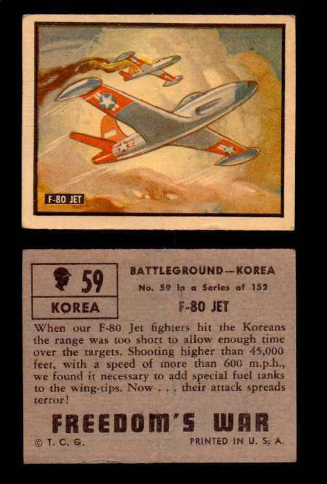 1950 Freedom's War Korea Topps Vintage Trading Cards You Pick Singles #1-100 #59  - TvMovieCards.com