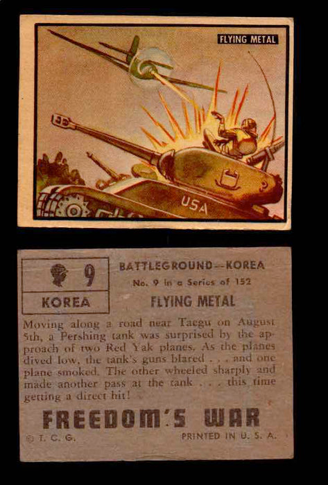 1950 Freedom's War Korea Topps Vintage Trading Cards You Pick Singles #1-100 #9  - TvMovieCards.com