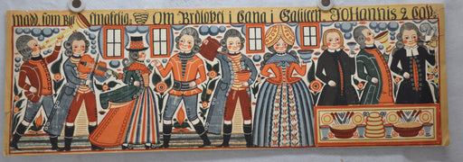 Antique 1700s-1800s Danish Festival / Party lithograph Art Print Poster 12 x 36   - TvMovieCards.com