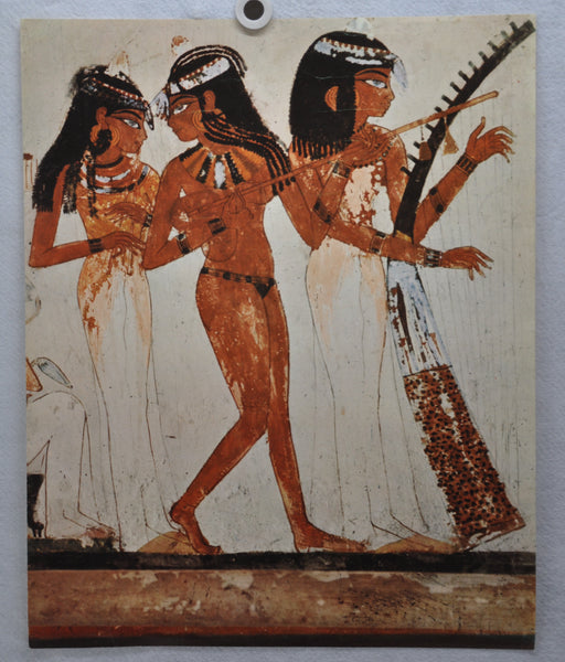 Kunstkreis Luzern - EGYPTIAN PAINTING - Three female musicians lithograph Print   - TvMovieCards.com