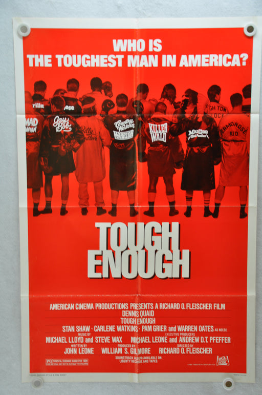 1983 Tough Enough Original 1SH Movie Poster 27 x 41 Dennis Quaid Carlene Watkins, Stan Shaw   - TvMovieCards.com
