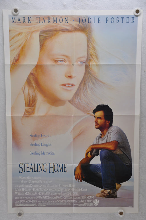 1988 Stealing Home Original 1SH Movie Poster 27 x 41 Mark Harmon Jodie Foster   - TvMovieCards.com