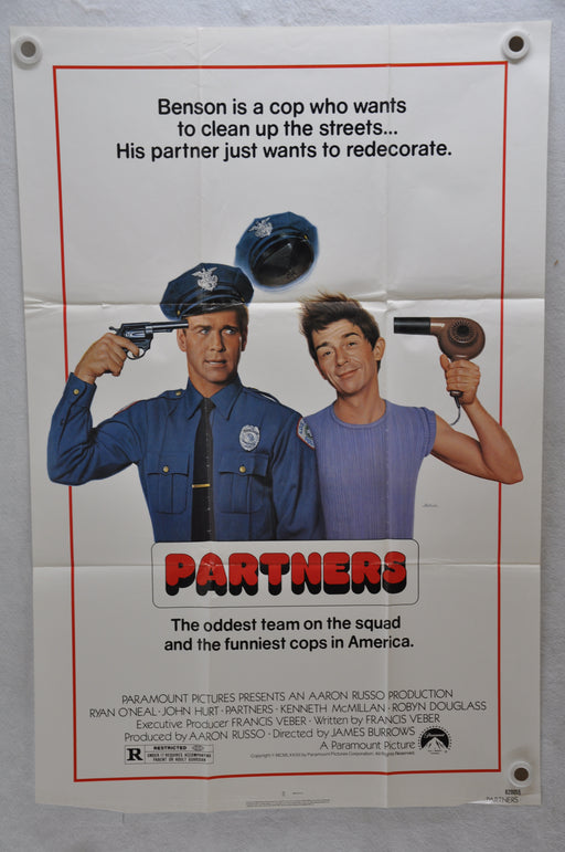 1982 Partners Original 1SH Movie Poster 27 x 41 Ryan O'Neal John Hurt McMillan   - TvMovieCards.com