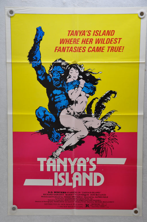 1980 Tanya's Island Original 1SH Movie Poster 27 x 41 Vanity Richard Sargent   - TvMovieCards.com