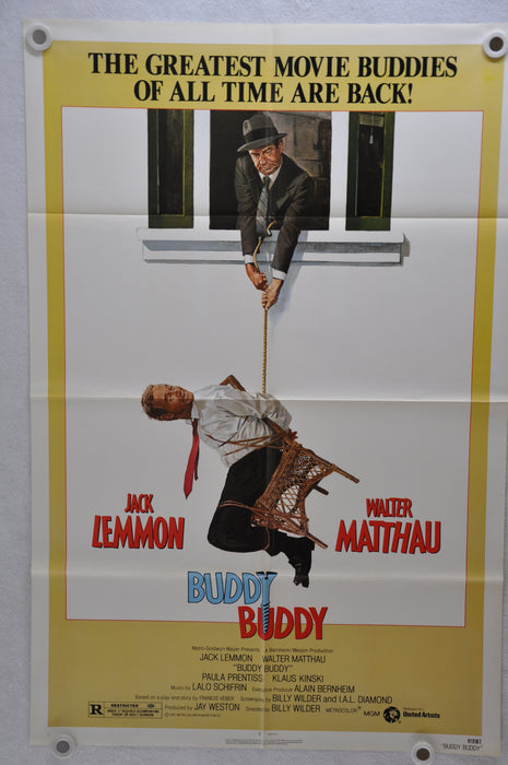 1981 Buddy Buddy Original 1SH Movie Poster 27 x 41 Jack Lemmon Walter Matthau   - TvMovieCards.com