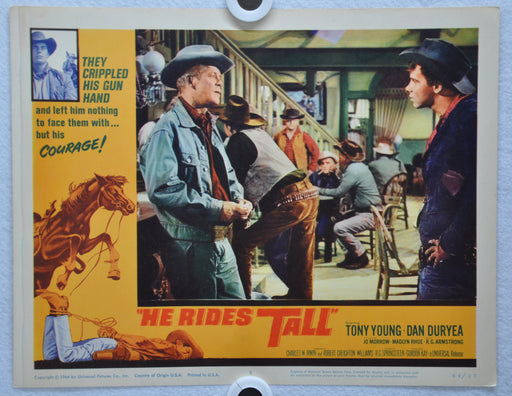 He Rides Tall 1964 Lobby Card #5 Movie Poster Tony Young, Dan Duryea, Jo Morrow   - TvMovieCards.com