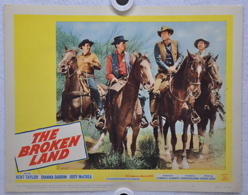 The Broken Land 1962 Lobby Card #4 Movie Poster Kent Taylor, Diana Darrin   - TvMovieCards.com