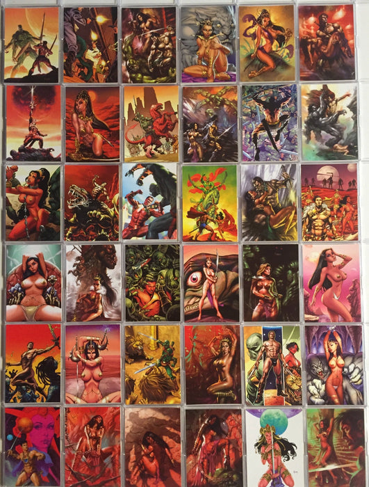 Warlord of Mars Base Card Set  72 Cards   - TvMovieCards.com