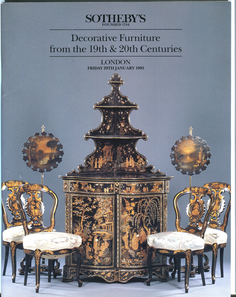 Sothebys Auction Catalog Jan 29 1993 Decorative Furniture 19 & 20th Century   - TvMovieCards.com