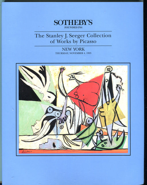 Sothebys Auction Catalog 1993 Stanley J. Seeger Collection of Works by Picasso   - TvMovieCards.com