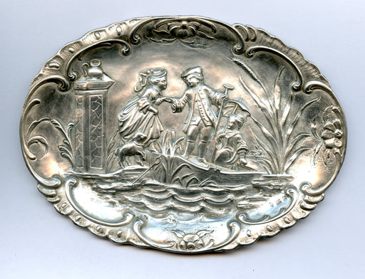 Repousse Berry Candy Dish 6 Inch Romantic Boat Ride 800 Coin Sterling Silver*   - TvMovieCards.com