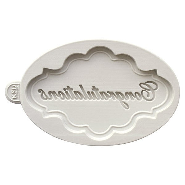 Katy Sue Congratulations Plaque Mould