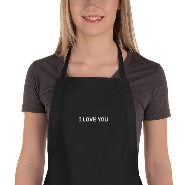 I Love You, Embroidered Apron