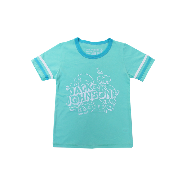 Kid's Mint Football Tee