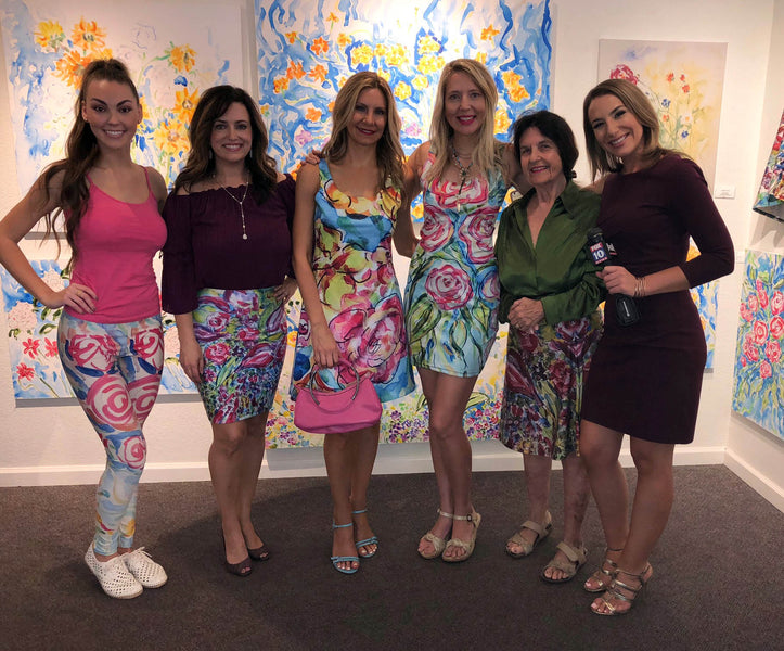 FOX 10 covers  artsyandreazfloral fashion at Gallery Andrea