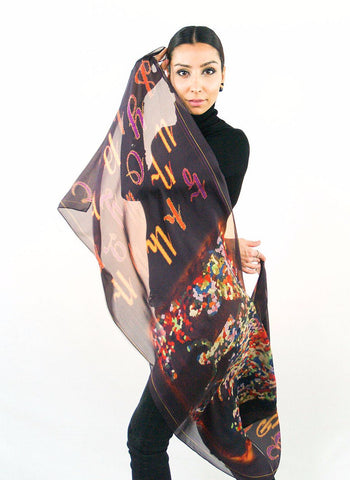 Armenian Alphabet Scarf #1 - Anet's Collection - 1