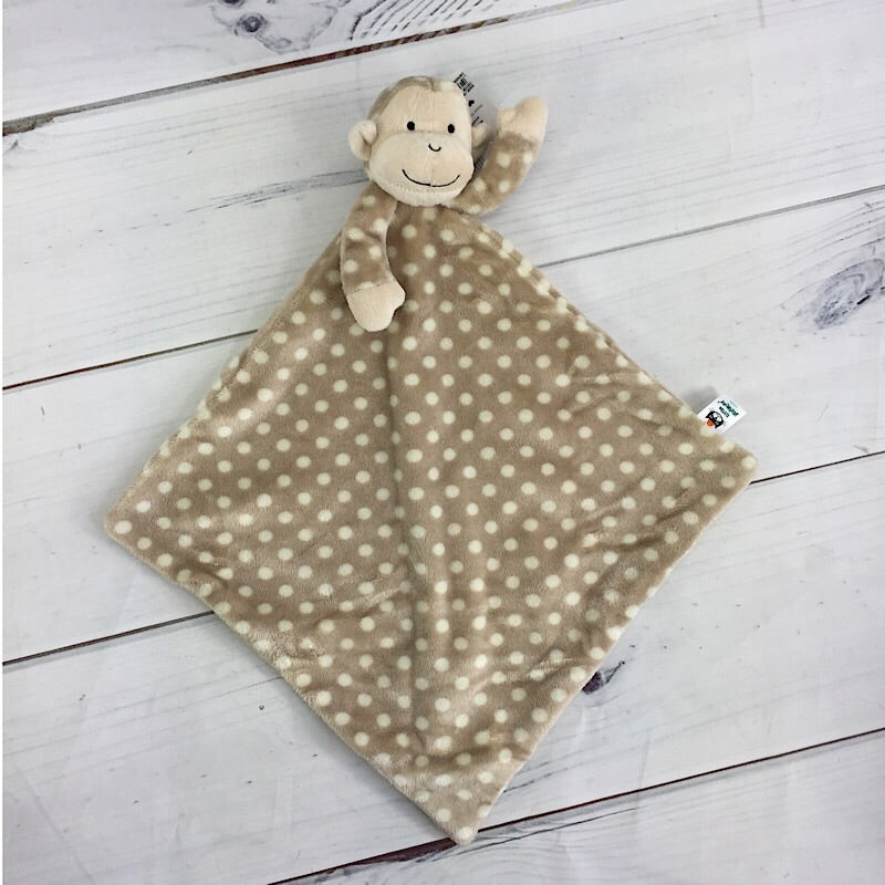 Little Jellycat Monty Monkey Polka Dot Soother Security Blanket - Deluge Sales