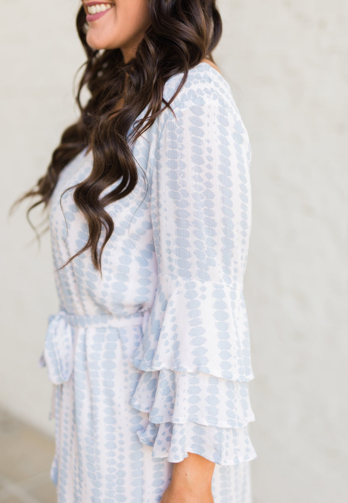 First Class Tiered Sleeve Dress