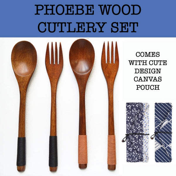 phoebe wood cutlery set corporate gifts door gift