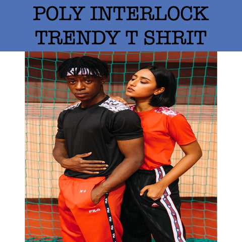 poly interlock round neck t shirt corporate gifts door gift