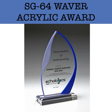 sg-64 waver acrylic award plaque corporate gifts door gift