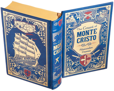 The Count of Monte Cristo by Alexandre Dumas (Leather-bound) (Flask Included)