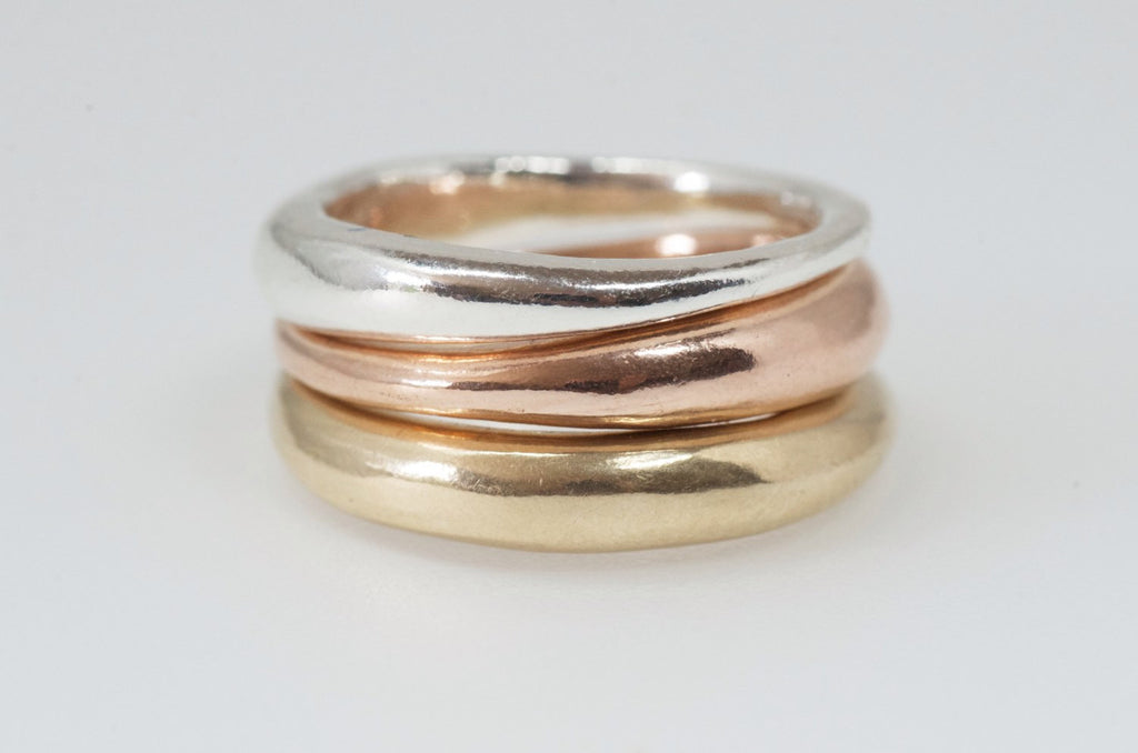 Modern Stacking Wedding rings