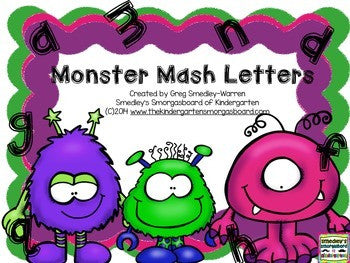 Monster Mash Letter Recognition!