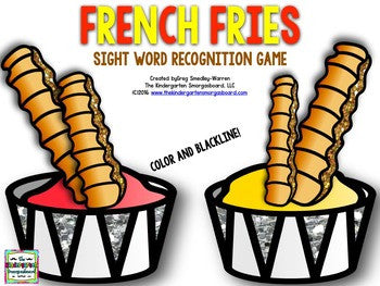 French Fry Sight Words!