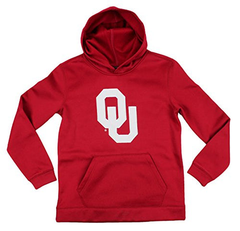 Genuine Stuff NCAA Youth Boys Oklahoma Sooners Perforated Pullover Hoodie - Red