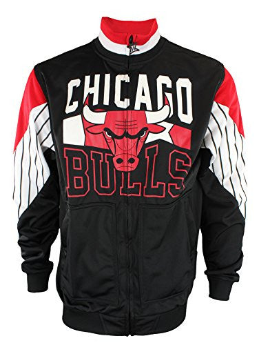 Zipway NBA Mens Chicago Bulls Step Up Full Zip Athletic Jacket