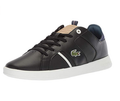 Lacoste Men's Novas 418 1 Fashion Sneaker, Black/Natural