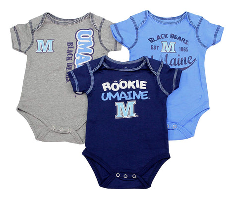 Outerstuff NCAA Infant University of Maine Black Bear 3 Piece Creeper