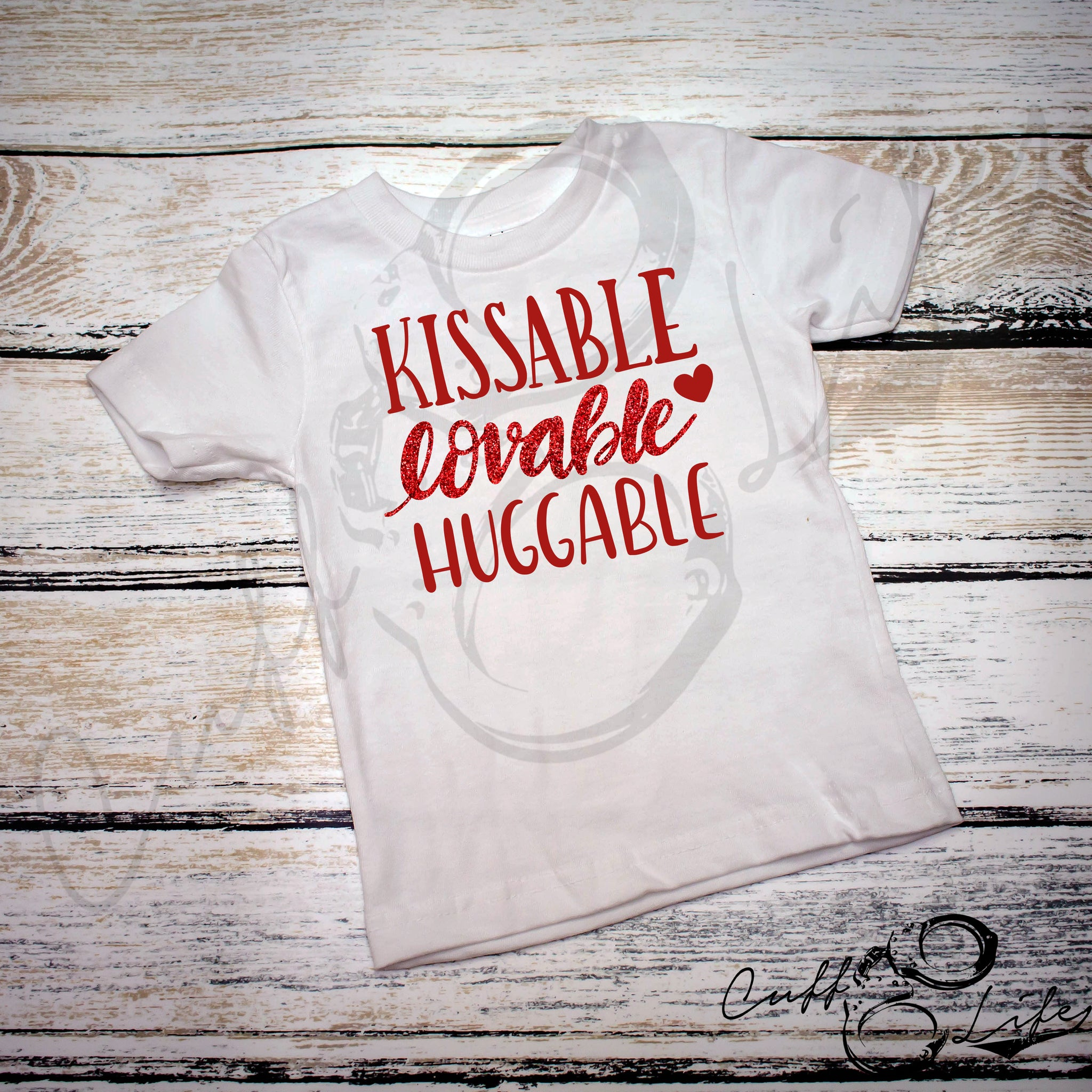 Kissable Lovable Huggable - Toddler/Youth T-Shirt