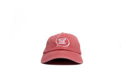 Bubble Logo Dad Hat - Sunwashed Red