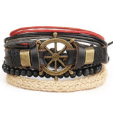 Men's Multi-Layer Bead Leather Bracelet