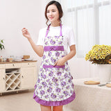 Florl Bib Printed Waterproof Apron with Pockets