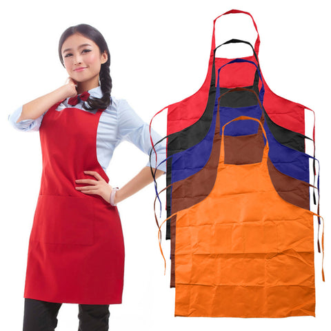 Plain Cooking Apron with Front Pocket
