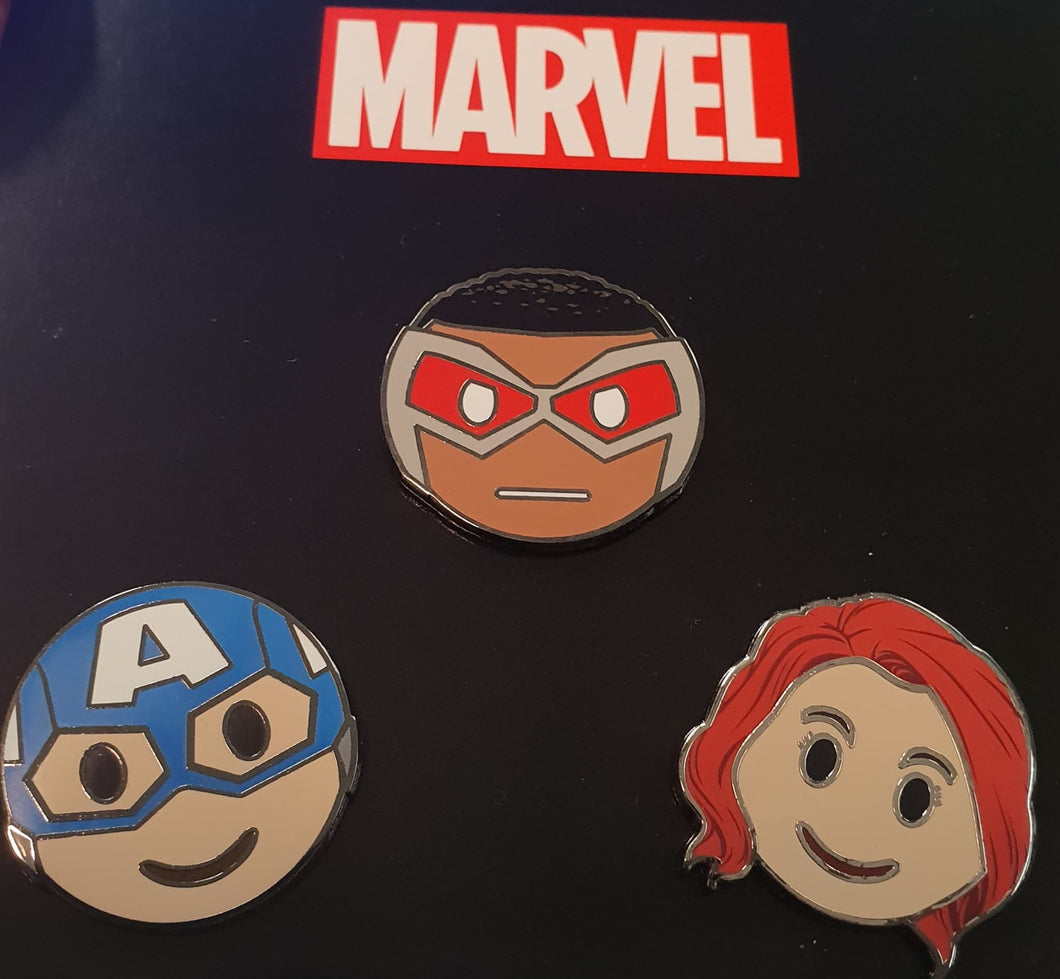 Team Cap Emoji Pin Set