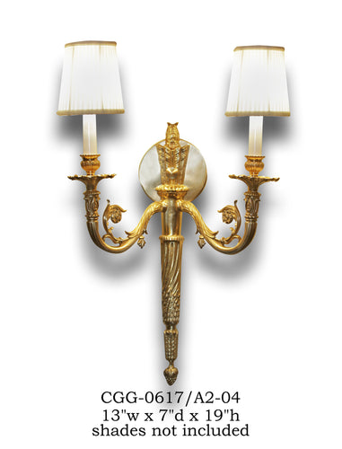 Brass Sconce - CGG-0617/A2-04Sconce - Graham's Lighting Memphis, TN
