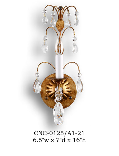 Crystal Sconce - CNC-0125/A1-21Sconce - Graham's Lighting Memphis, TN