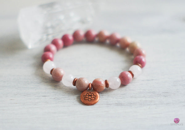 Rhodonite Gemstone Bracelet