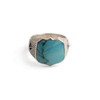 Signet Ring with Turquoise in Sterling Silver